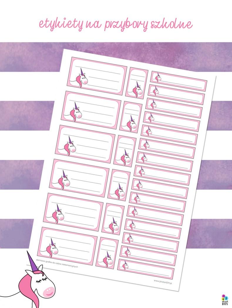 etykiety do druku - oznakowanie przyborów szkolnych
