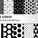 Czarno-białe wzory – papier ozdobny do druku #5