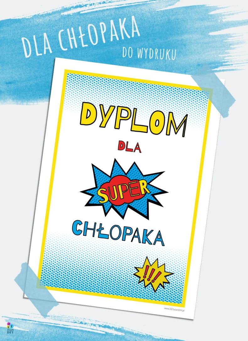 Na dzień chłopaka - dyplom i plakaty dla chłopców