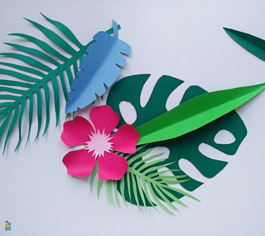 tropikalne szablony - dekoracja na aloha party