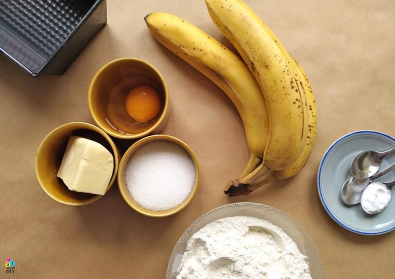 najprostsze ciasto dla początkujących, chlebek bananowy