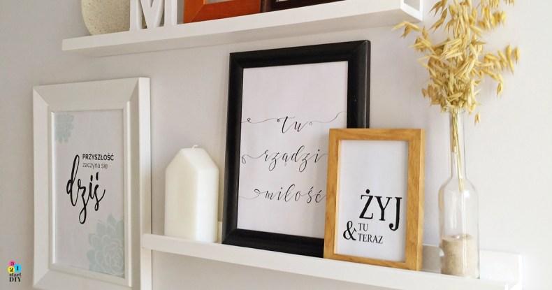 Półka na zdjęcia DIY