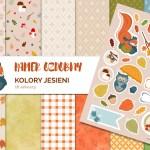 Kolory jesieni – papier dekoracyjny do druku #6 + bonus