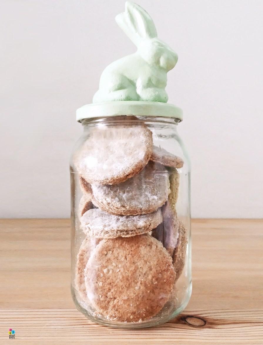 co zrobić ze słoika; pojemnik na ciasteczka