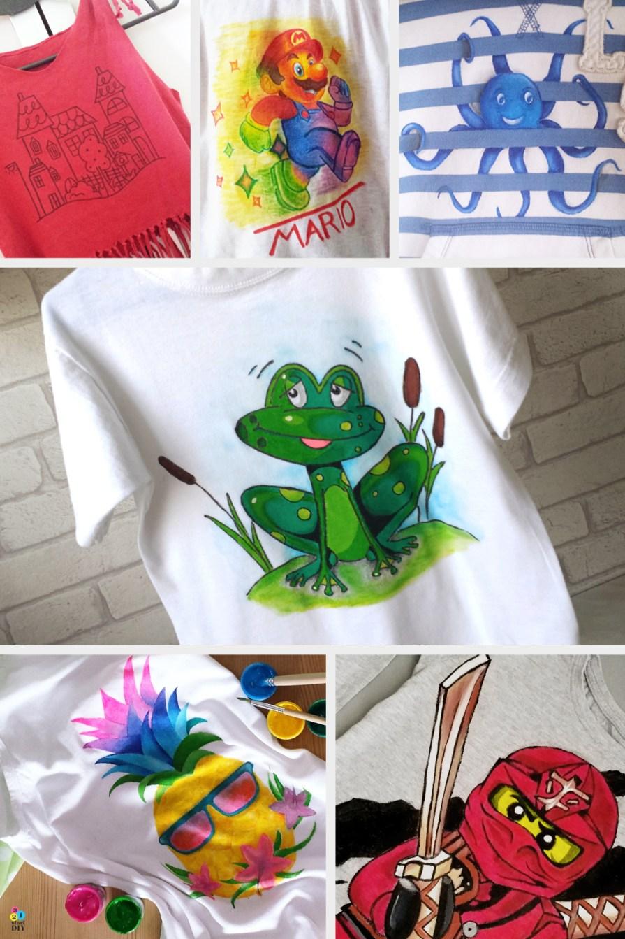 diy, malowany tshirt