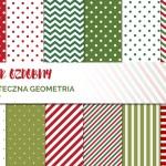 Papiery ozdobne do druku #7 – świąteczna geometria