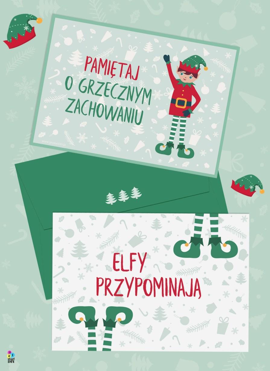 elfy Świętego Mikołaja, przypomnienie dla niegrzecznych dzieci