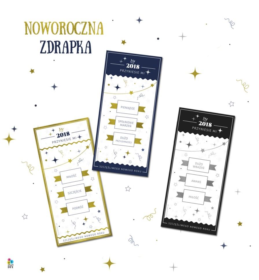 Wróżba na Nowy Rok 2018 - grafika do druku