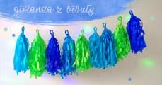 dekoracja na urodziny - girlanda z bibuły