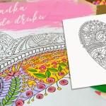 Kolorowanka dla dorosłych do druku – antystresowe serce