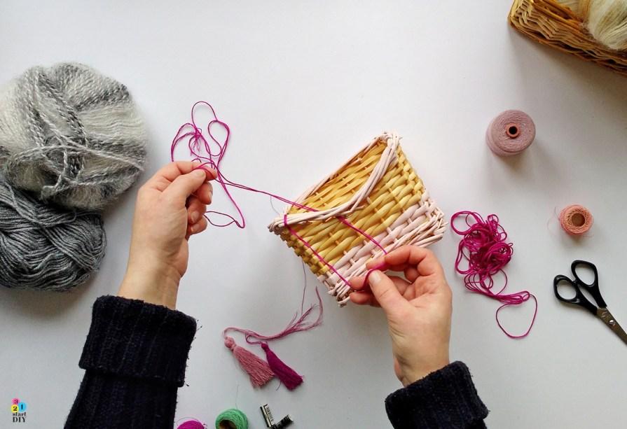 Koszyk z wikliny - przepis na metamorfozę