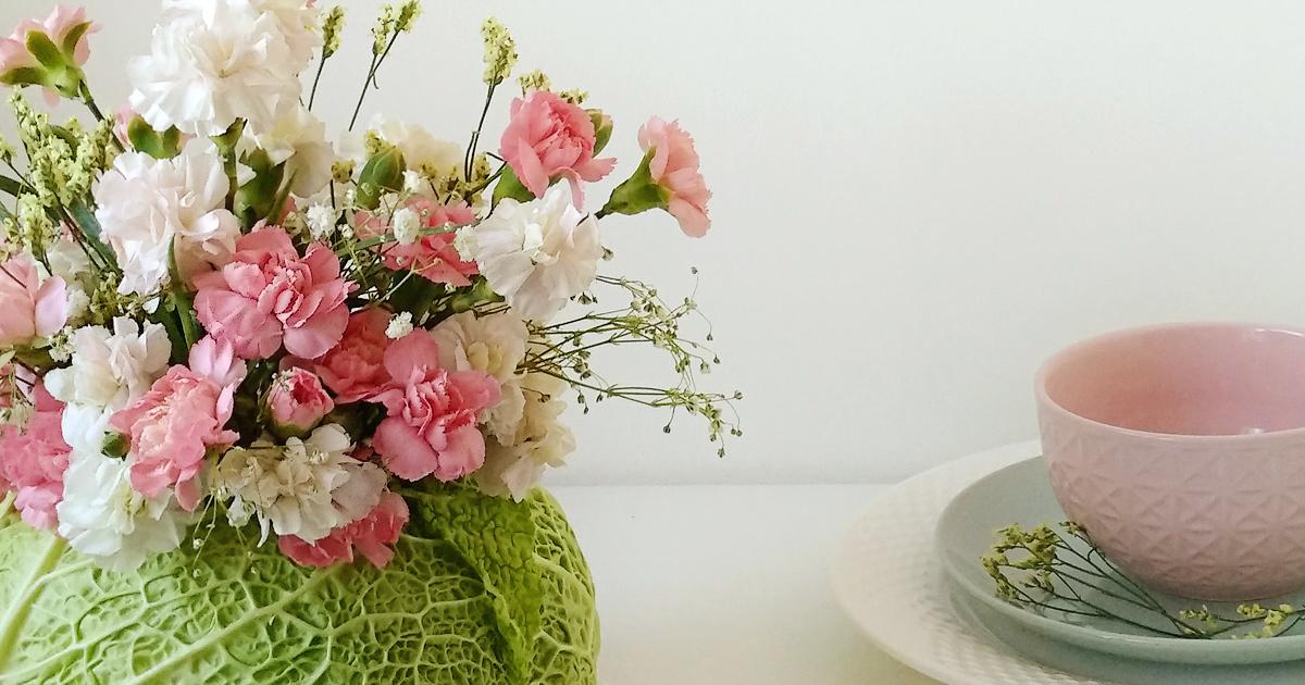 Nietuzinkowa dekoracja na stół czyli wazon z kapusty