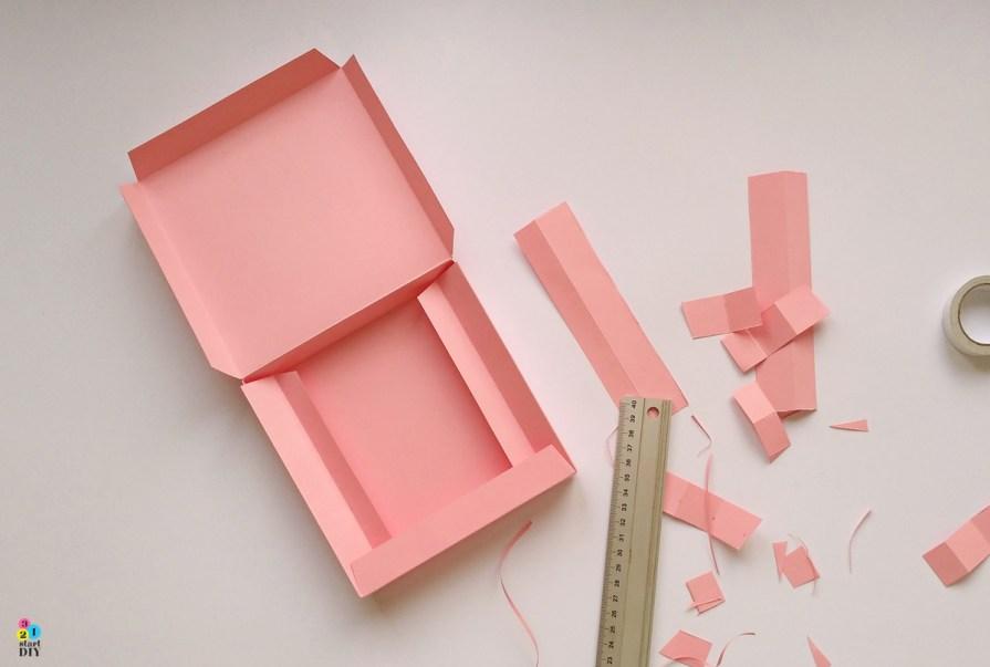 Jak zrobić pudełko - bazę do ręcznie robionych kartek