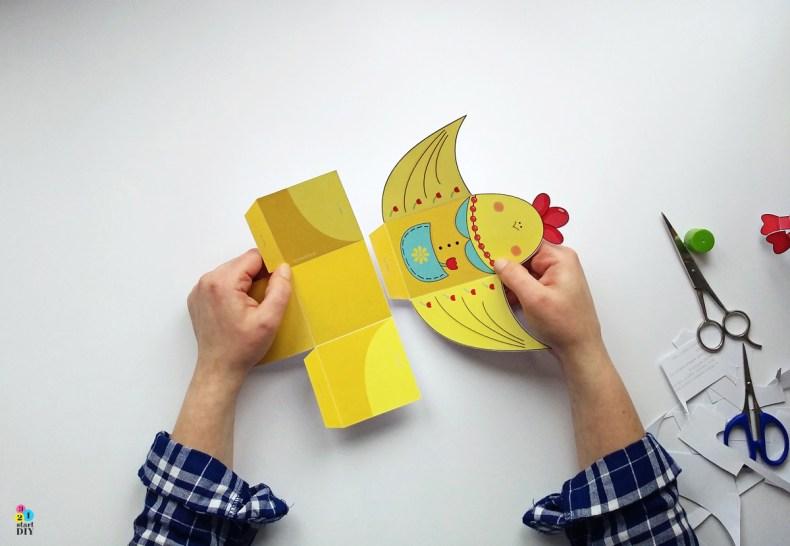 Kurki - wielkanocne opakowania na prezenty / do druku