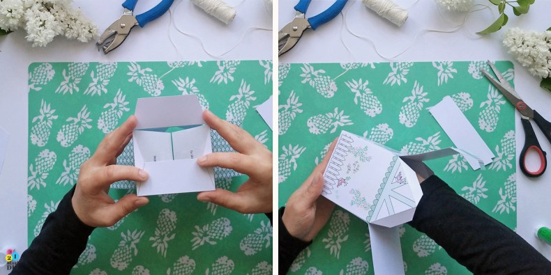 domek z papier pudełko na prezent
