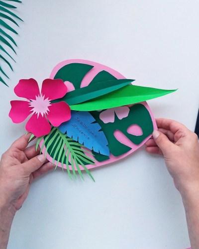 Kartka urodzinowa w hawajskim klimacie - zrób to sam