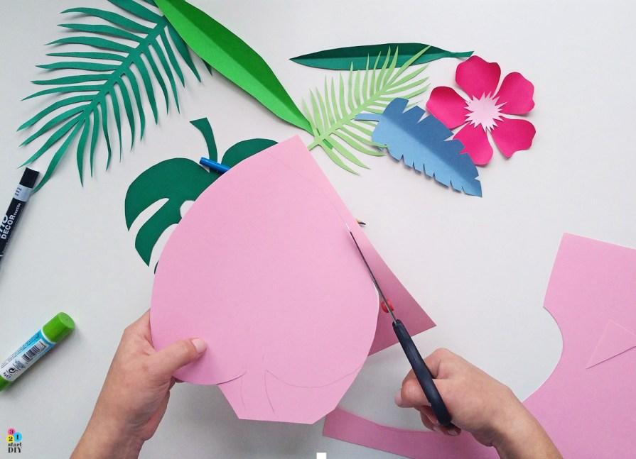 Kartka na urodziny w hawajskim klimacie - zrób to sam