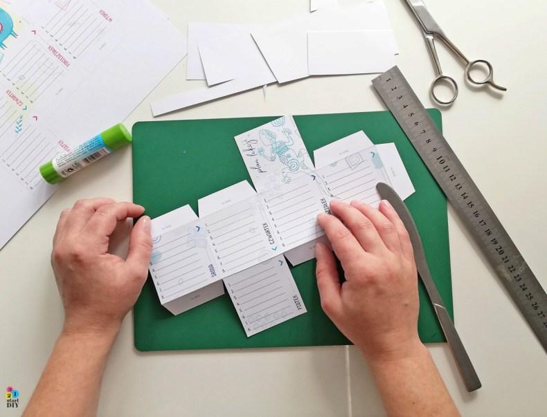 kostka plan lekcji na biurko do druku