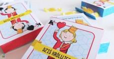 Pudełka na słodycze dla małego królewicza - do druku