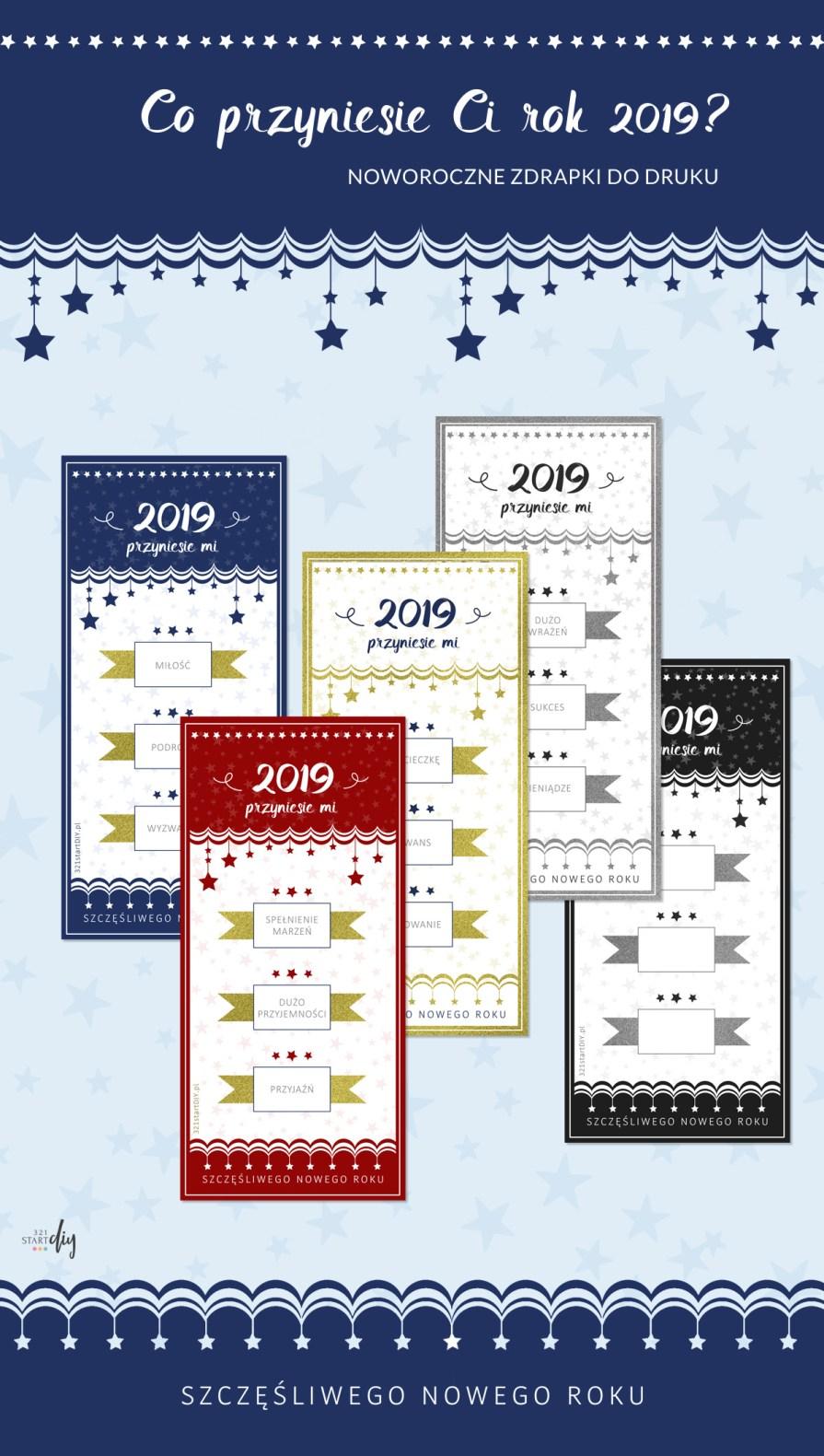 Co przyniesie Ci rok 2019 - noworoczna wróżba zdrapka do druku