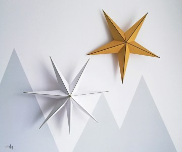 Gwiazda z papieru - świąteczna dekoracja diy