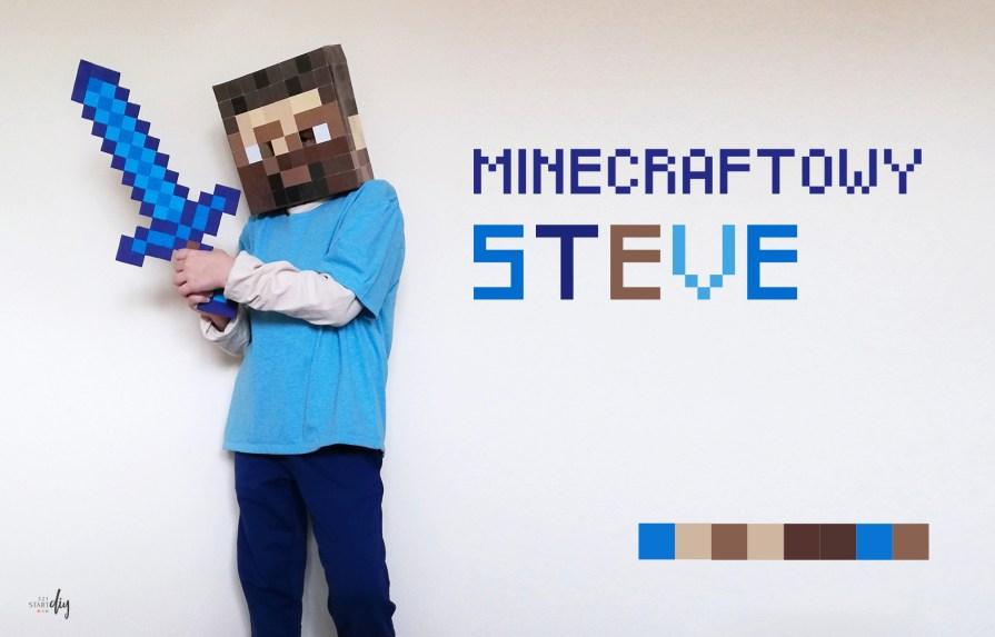 Strój Minecraft Steve - wersja DIY