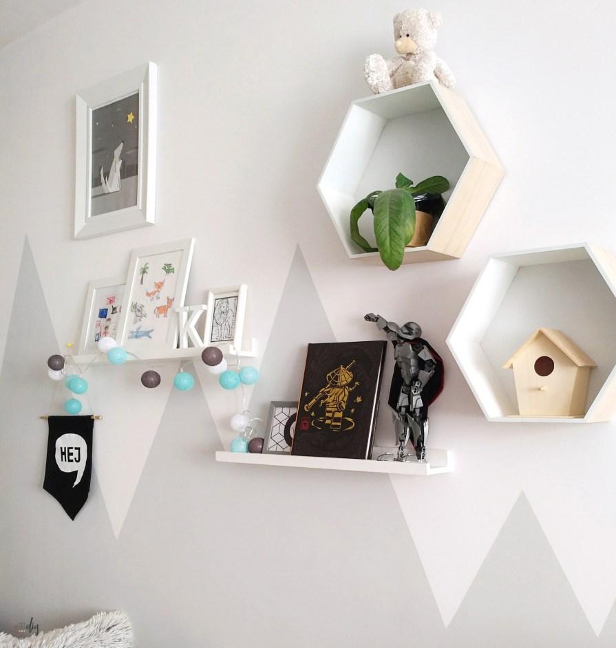 Góry na ścianie w pokoju dziecięcym - diy