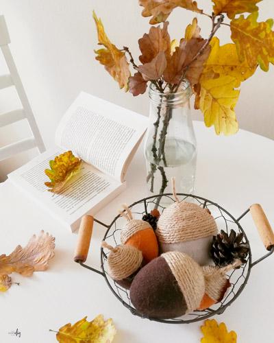 Dekoracyjne żołędzie - prosta jesienna ozdoba