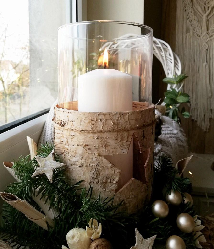 Robimy dekoracje na prezent - świecznik w korze brzozy