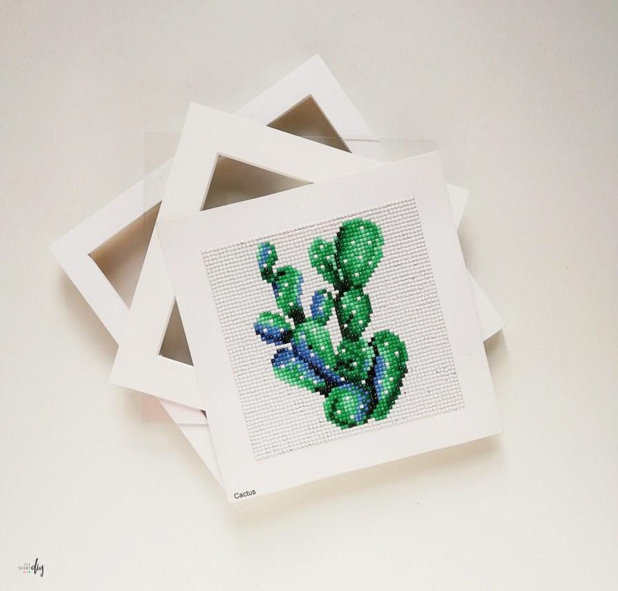 Diamond painting - oprawienie pracy