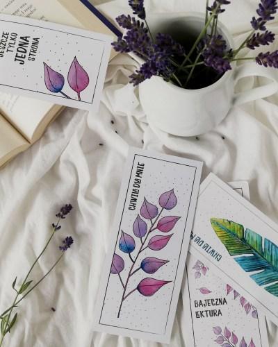 liściaste zakładki do książek