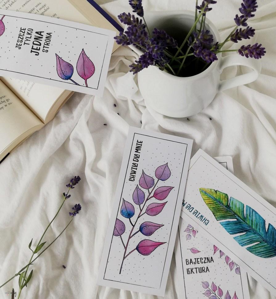 Liściaste zakładki do książek - pobierz i wydrukuj