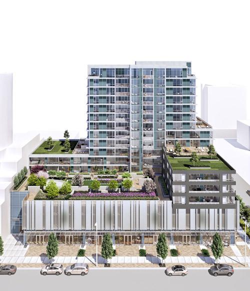 a model of a  big modern building