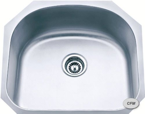 undermount mid size single bowl stainless steel sink