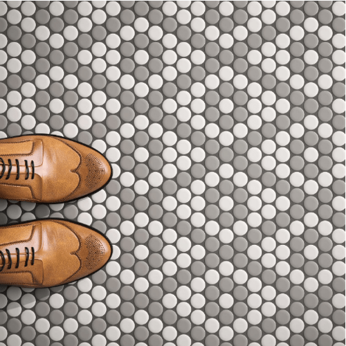 penny round mosaic tile