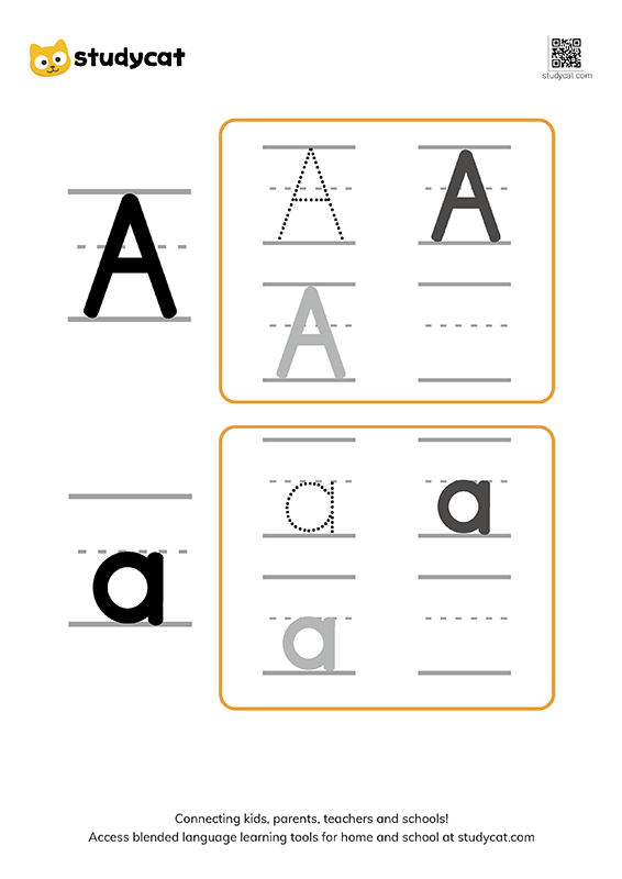 Letter Aa Writing Worksheets