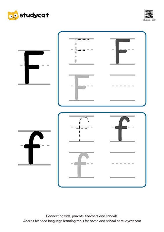 Letter Ff Writing Worksheets