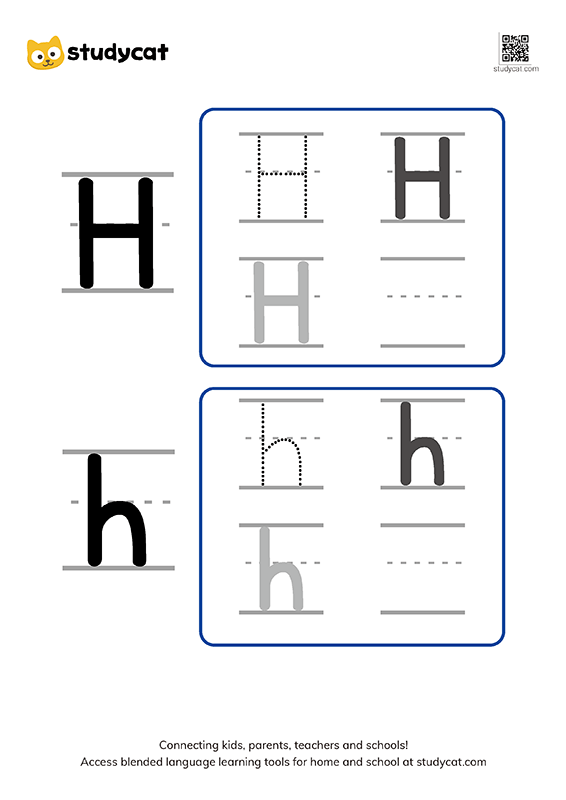 Letter Hh Writing Worksheets