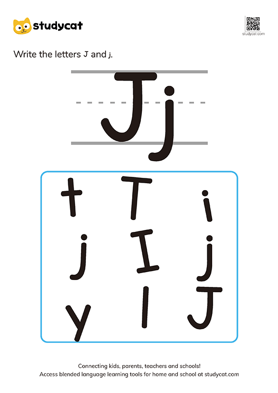 Letter Jj Writing Worksheets