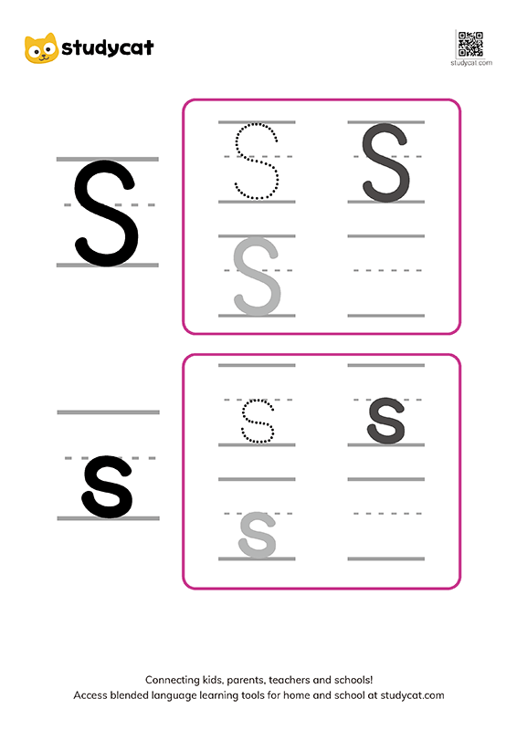 Letter Ss Writing Worksheets