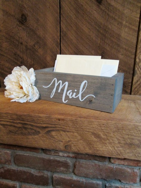 Etsy Beach Office Decor Mail Bin