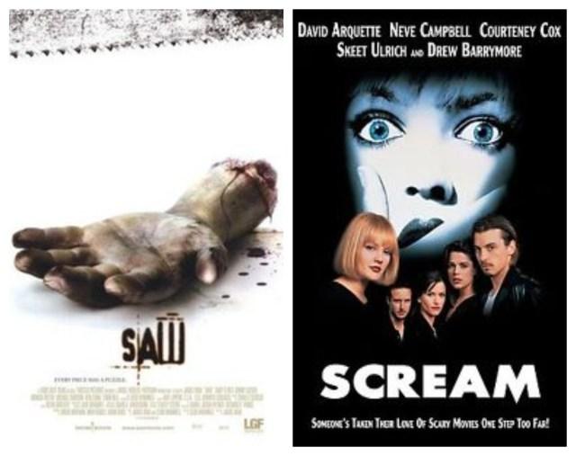 Saw, Scream Scary Movies