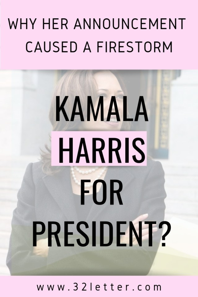 We're taking a look at the firestorm that ensued after Kamala Harris confirmed that she was running for president.