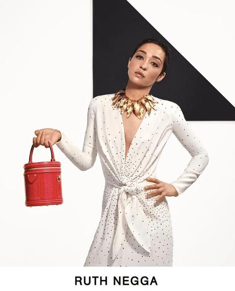 Actress Ruth Negga stars in Louis Vuitton Pre-Fall 2019 lookbook.