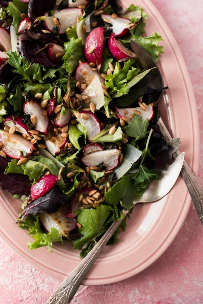 Roasted Radish Salad with Butter-Thyme Dressing | Naturally Ella