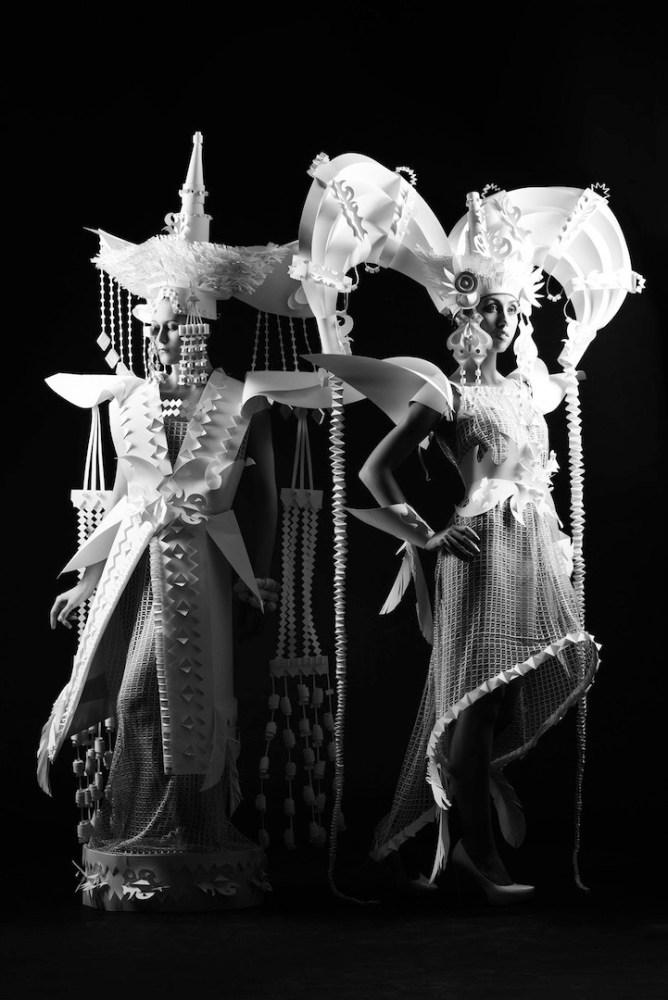 Ornate Mongolian Wedding Costumes Made Out of Paper by Asya Kozina (6/6)