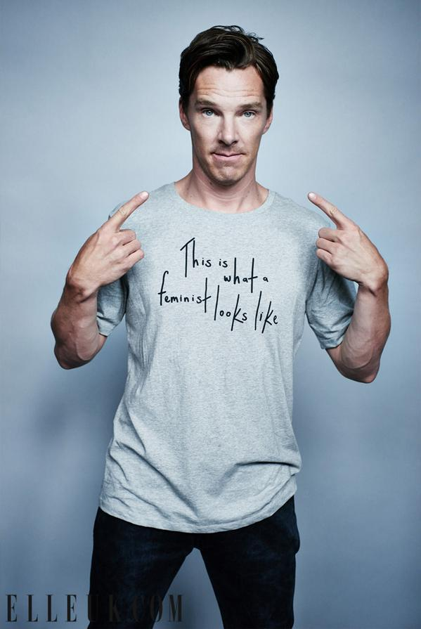 @ELLEUK   Now THIS is what a feminist looks like #ellefeminism #BenedictCumberbatch http://on.elleuk.com/1FQ1nGg