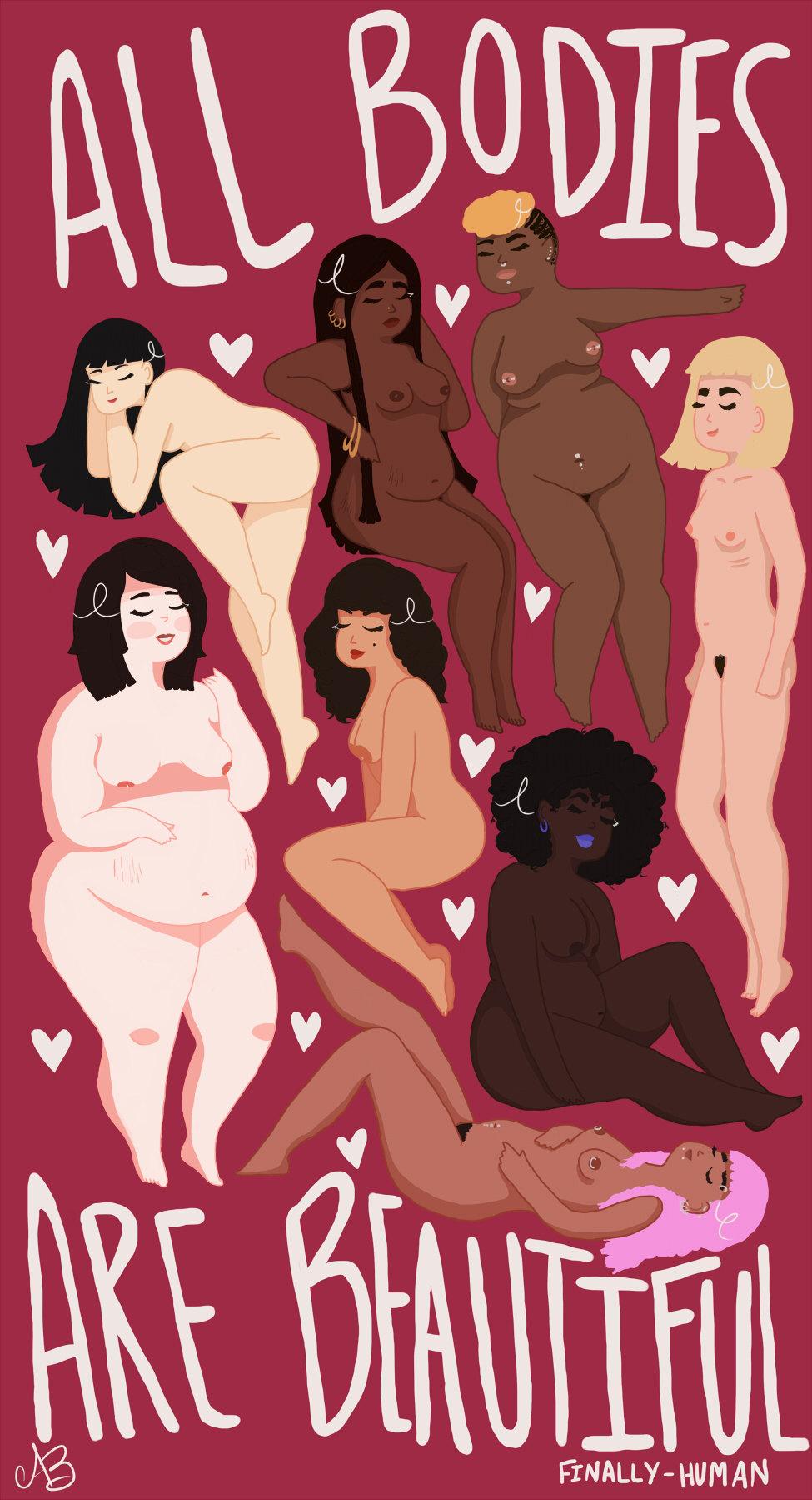 beauty art digital art body positivity diversity artists on tumblr body positive fat acceptance artists of tumblr body acceptance body love fat art chubby bunny body positive art who let me art finally-human
