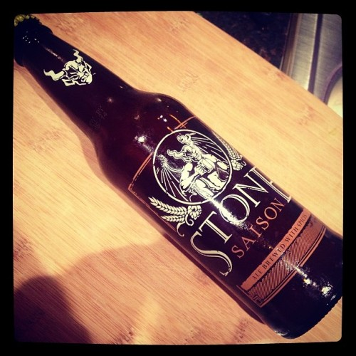 It's been a long day. Gotta treat myself before the second half begins. @stonebrewingco  #drinkandspoon #beer #beerstagram #beerporn #instabeer #craftbeer #drink #summer