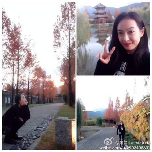 victoriagallery:</p> <p>141115 Victoria weibo update<br />